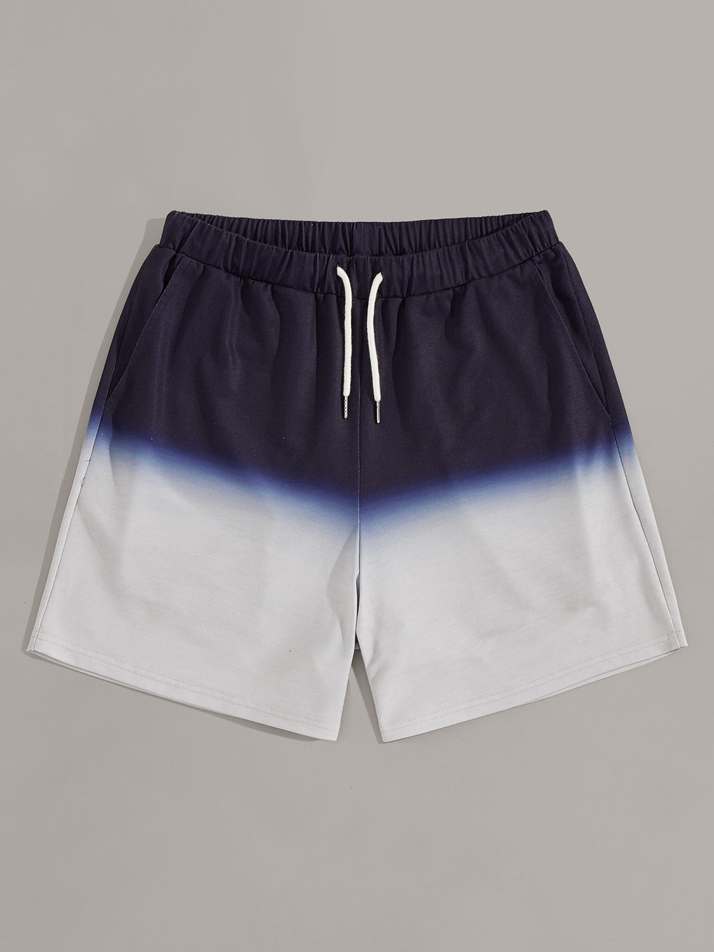 Men Drawstring Waist Ombre Sweat Shorts - mroutfit