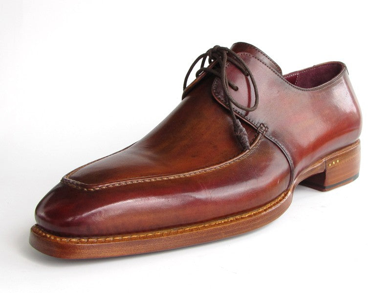 Paul Parkman Goodyear Welted Square Toe Apron Derby Shoes Brown (ID#322A7) - mroutfit
