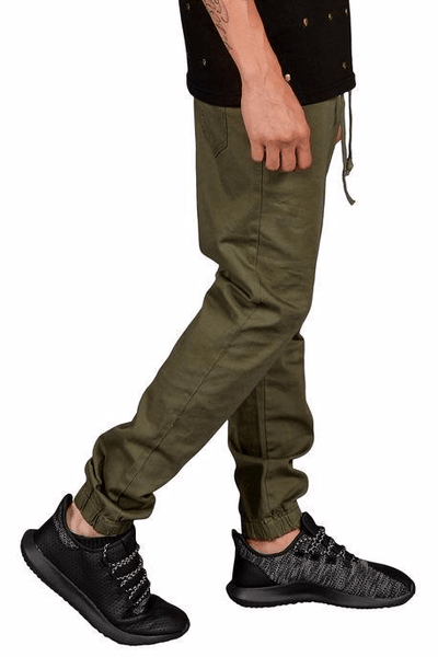 Rich V3 Twill Joggers (Olive) - mroutfit