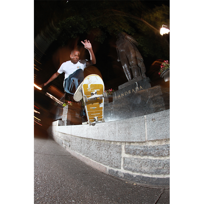 Jahmal Williams Frontside 180 Nosegrind Print by josh stewart