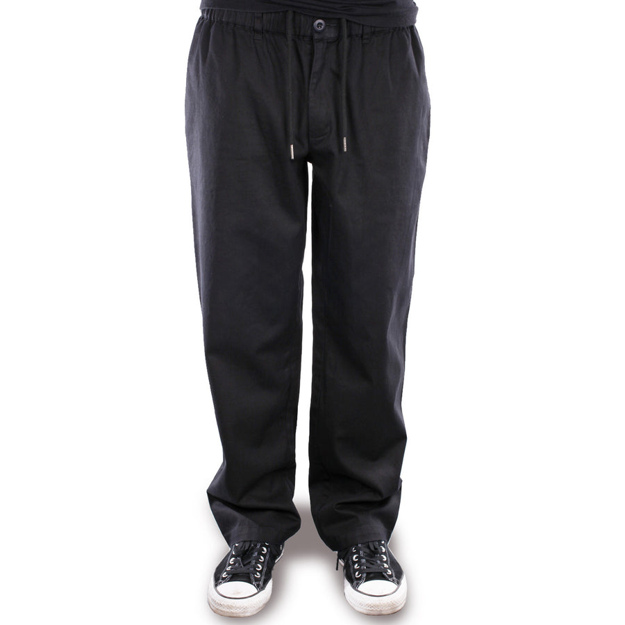 Theories Stamp Lounge Pant Black Front