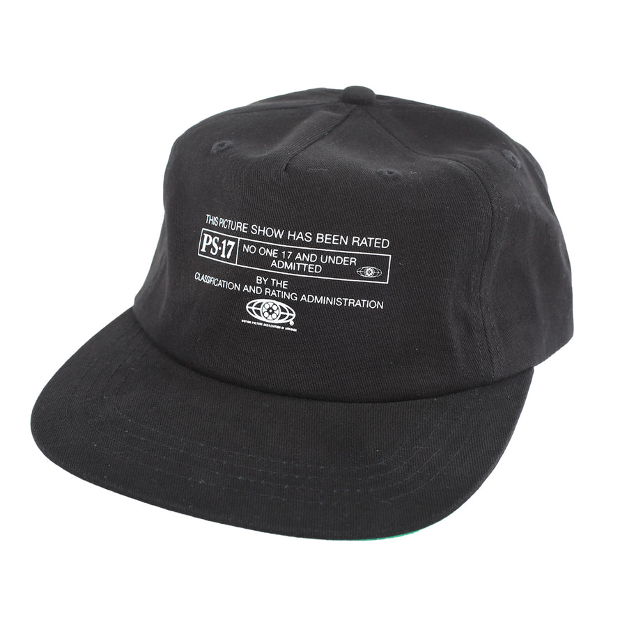 Picture Show PS-17 Strapback Hat Black Front