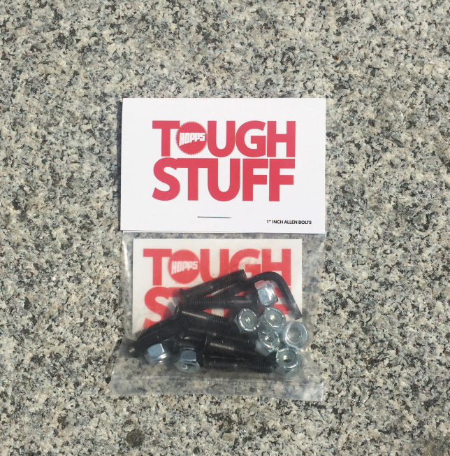 "Hopps Skateboards Tough Stuff Hardware 1"" Allen"