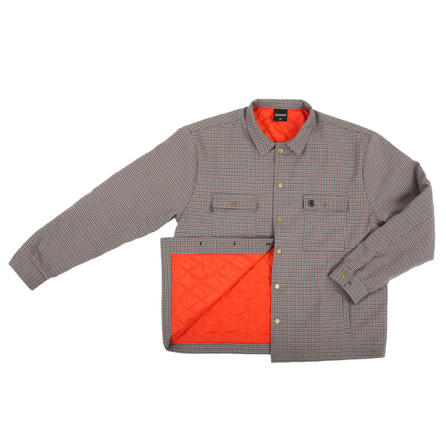 Theories Lantern Shirt Jacket Clay/Orange Check