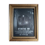 "Static IV 18"" x 24"" Silk Screened Poster (2 Colors)"