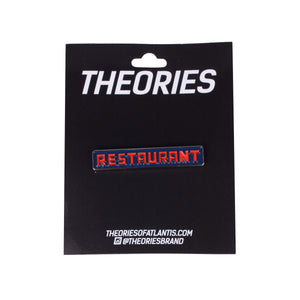 Theories Seinfeld Restaurant Enamel Pin on card