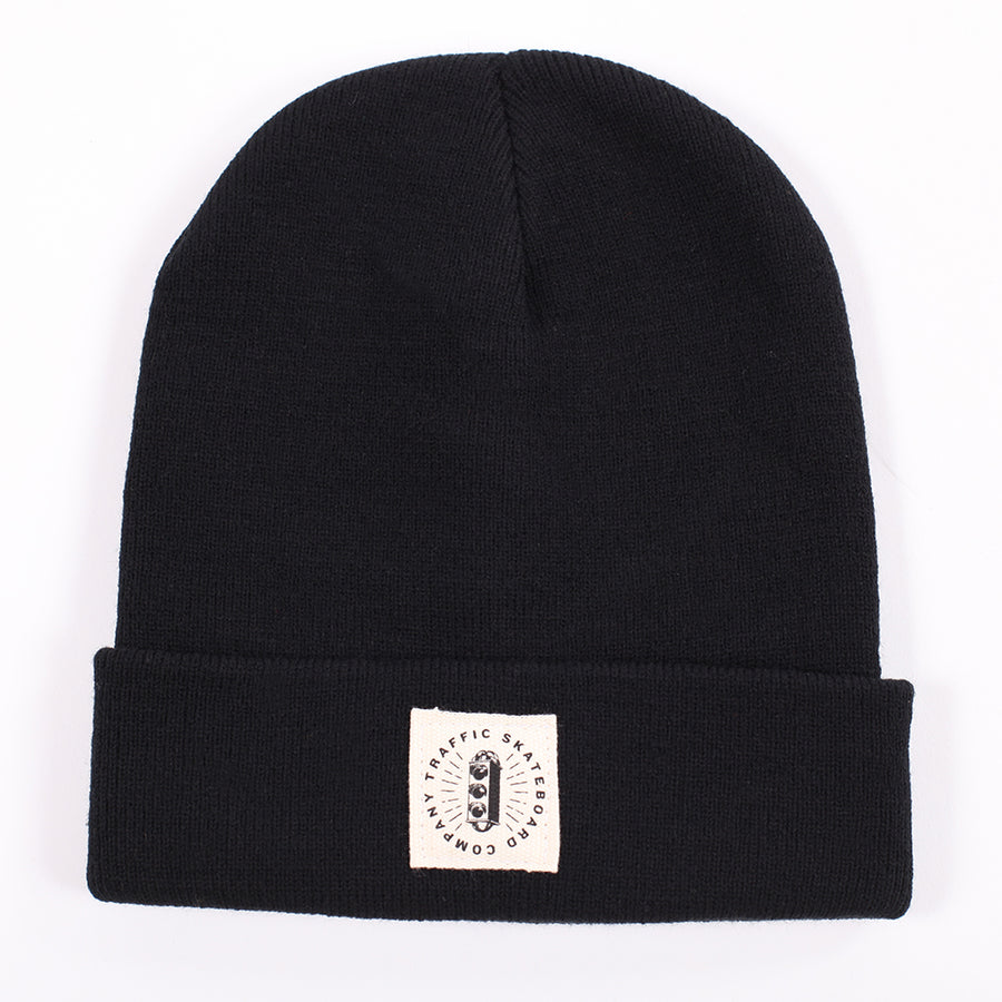 Traffic Skateboards Burst Label Acrylic Beanie black