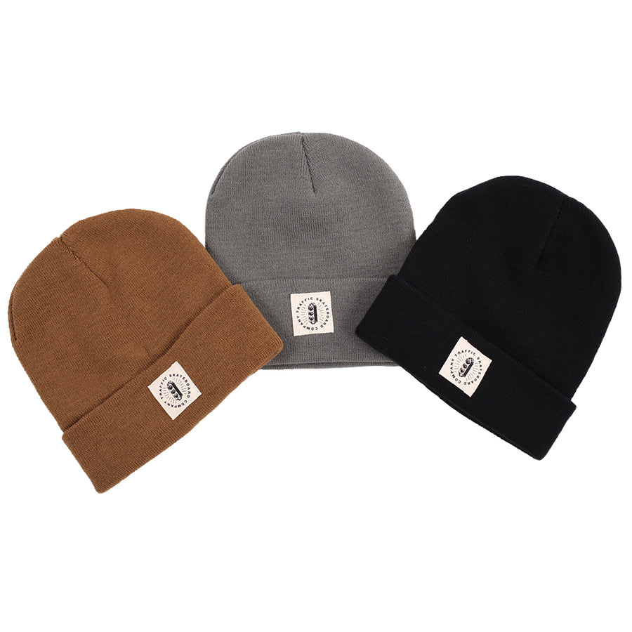 Traffic Skateboards Burst Label Acrylic Beanie all colors