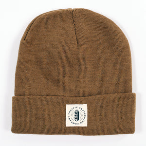 Traffic Skateboards Burst Label Acrylic Beanie coyote brown
