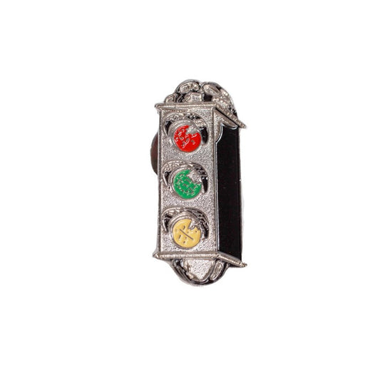 Traffic Skateboards Light Crest Enamel Pin front