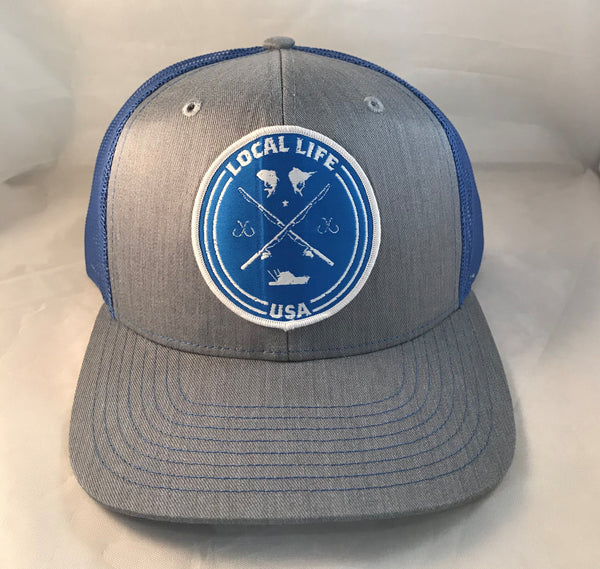 LOCAL LIFE FISHING PATCH TRUCKERS HAT