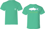 Amberjack Outline Short Sleeve Tee