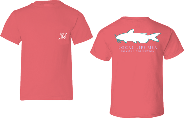 Catfish Outline Short Sleeve Tee