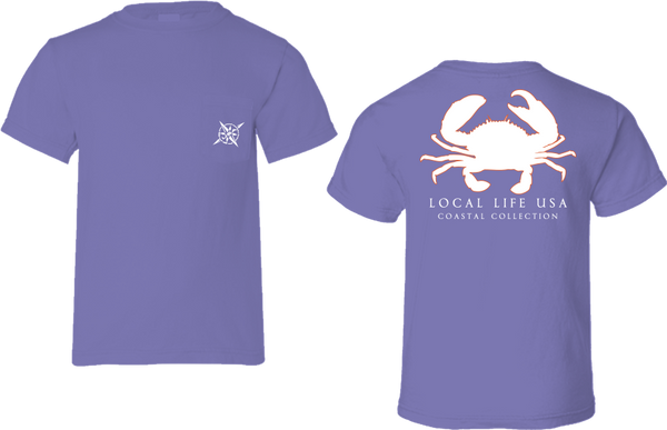 Crab Outline Short Sleeve Tee