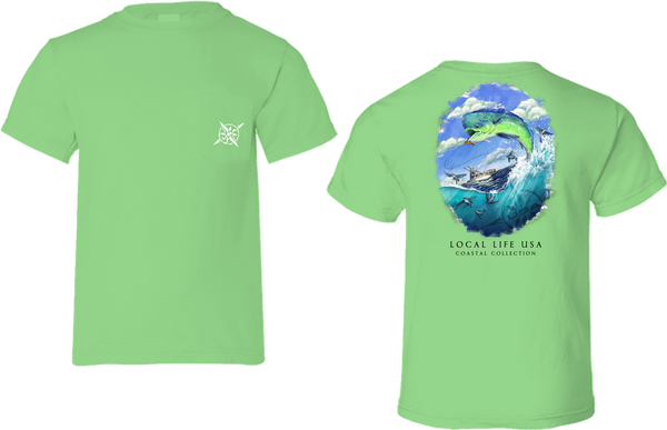 Mahi Mahi Coastal Collection Short Sleeve Tee