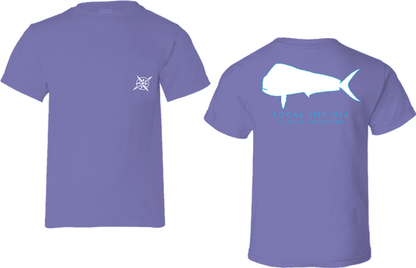 Mahi Mahi Outline Short Sleeve Tee