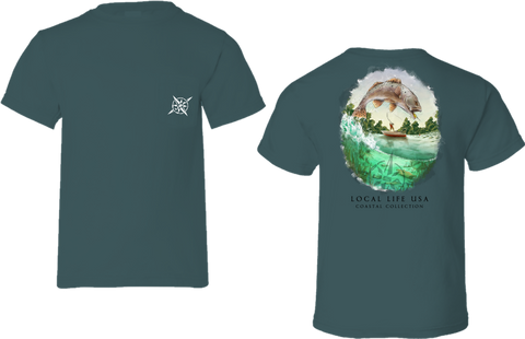 Speckled Trout Coastal Collection Short Sleeve Tee