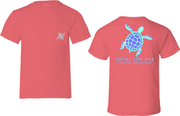 Turtle Outline Short Sleeve Tee
