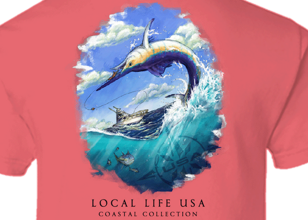 Marlin Coastal Collection Short Sleeve Tee