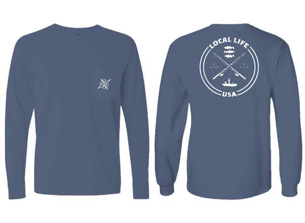 In Shore Fishing Long Sleeve Tee