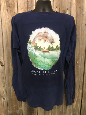 Speckled Trout Coastal Collection Long Sleeve Tee