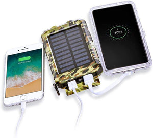 XC Charger 30,000mAh, Dual power Portable Solar Charger Power Bank