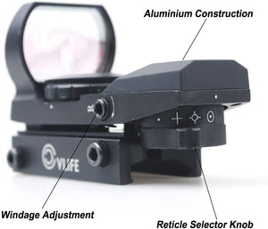 VL Red Green Dot Gun Sight Scope Reflex Sight with 20mm Rail
