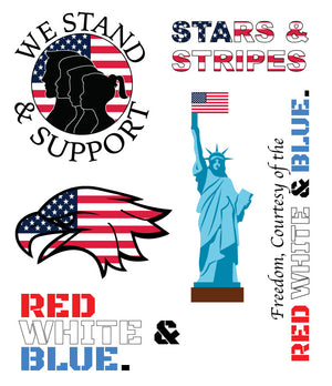 Red, White, & Blue Sticker Pack