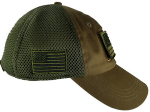 Tactical Cap W/ Velcro and Flag Patch (3 color options)