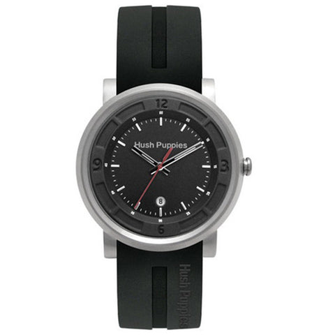 HUSH PUPPIES MEN'S BLACK RUBBER WATCH HP.3542M00.9502 - BrandNamesWatch.com