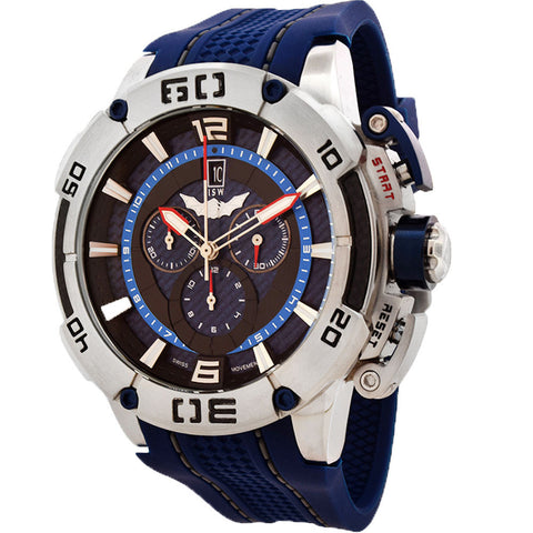 ISW MEN'S CHRONOGRAPH STAINLESS STEEL WATCH ISW-1001-02 - BrandNamesWatch.com