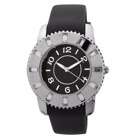 FMD by Fossil Lady's Standard 3-Hand Analog Base Metal Silicone Watch FMDCT407A - BrandNamesWatch.com