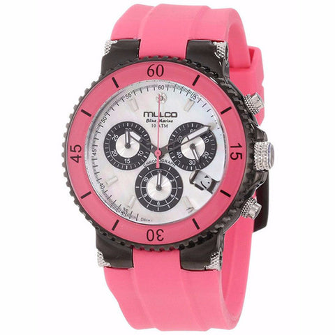 MULCO Blue Marine Mother of Pearl Dial Pink Silicone Watch MW3-70604-088 - BrandNamesWatch.com