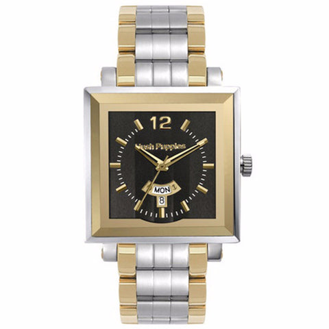 HUSH PUPPIES TWO TONE STAILESS STEEL MEN'S WATCH HP.3568M01.1502 - BrandNamesWatch.com