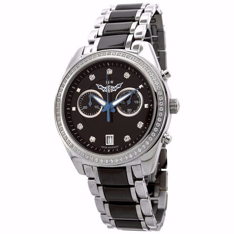 ISW WOMEN'S CHRONOGRAPH STAINLESS STEEL WATCH ISW-1007-04 - BrandNamesWatch.com