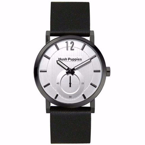 HUSH PUPPIES SILVER DIAL BLACK GENUIN LEATHER MEN'S WATCH HP.3628M.2522 - BrandNamesWatch.com