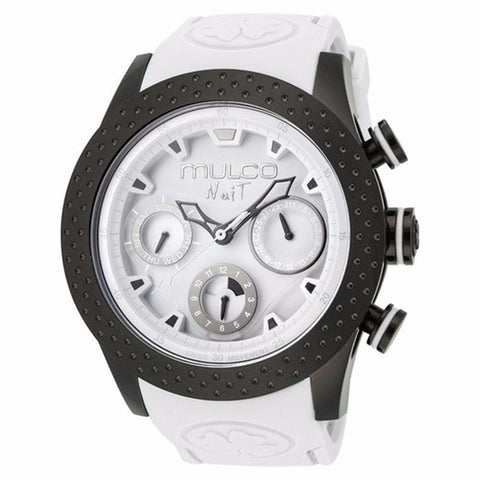 MULCO Nuit White Dial White Silicone Unisex Watch MW5-1962-018 - BrandNamesWatch.com
