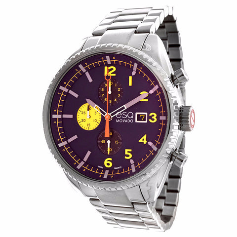 ESQ by Movado Men's Catalyst' Stainless Steel Chronograph Watch 07301446 - BrandNamesWatch.com