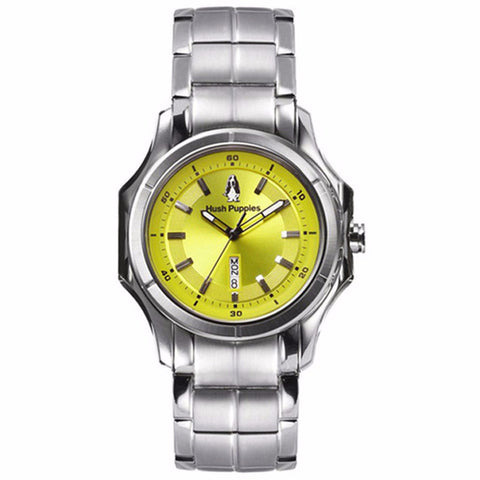 HUSH PUPPIES MEN'S NEON GREEN DIAL STAILESS STEEL WATCH WATCH HP.3629M.1511 - BrandNamesWatch.com