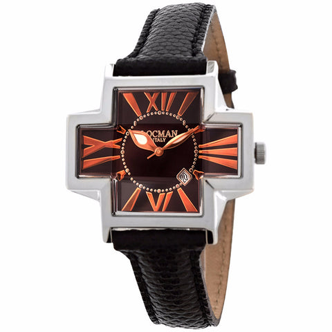 Locman Italy Plus Women's Black Leather Watch - BrandNamesWatch.com