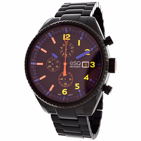 ESQ by Movado Men's Catalyst Black Stainless Steel Chronograph Watch 07301452 - BrandNamesWatch.com