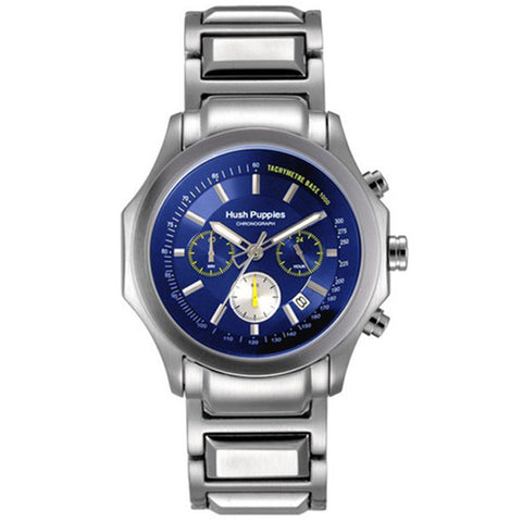HUSH PUPPIES MEN'S BLUE DIAL STAILESS STEEL CHRONOGRAPH WATCH HP.6039M.1503 - BrandNamesWatch.com