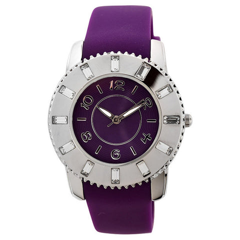 FMD by Fossil Women's Standard 3-Hand Analog Base Metal Silicone Watch FMDCT408A - BrandNamesWatch.com