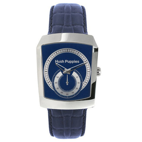 HUSH PUPPIES MEN'S STAILESS STEEL BLUE LEATHER STRAP WATCH HP.3362M.2503 - BrandNamesWatch.com