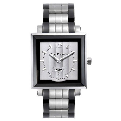 HUSH PUPPIES MEN'S SQUARE SILVER DIAL WATCH HP.3568M00.1522 - BrandNamesWatch.com