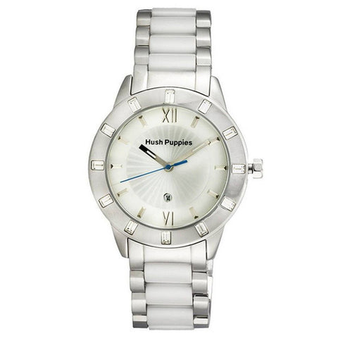 HUSH PUPPIES WOMEN'S STAINLESS STEEL WHITE DAIL WATCH HP.3573L.1522 - BrandNamesWatch.com