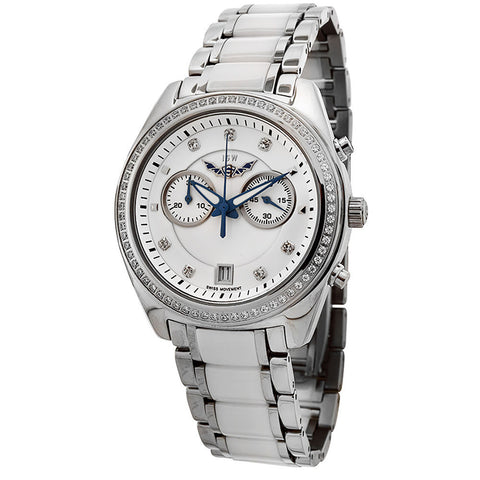ISW WOMEN'S CHRONOGRAPH STAINLESS STEEL WATCH ISW-1007-01 - BrandNamesWatch.com