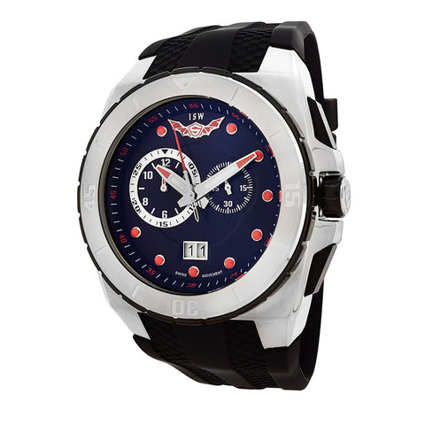 ISW MEN'S CHRONOGRAPH STAINLESS STEEL WATCH ISW-1009-01 - BrandNamesWatch.com