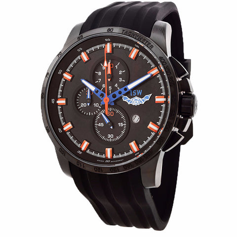 ISW MEN'S CHRONOGRAPH STAINLESS STEEL WATCH ISW-1003-02 - BrandNamesWatch.com