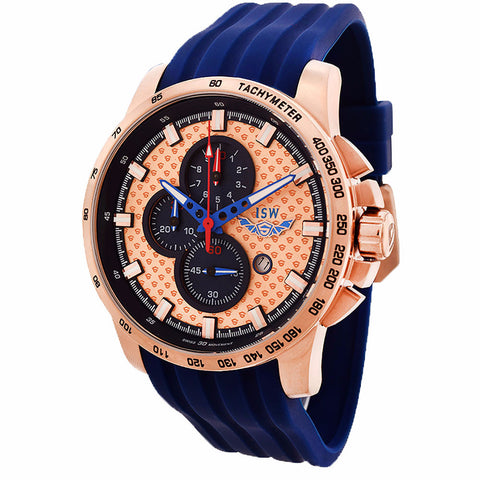 ISW MEN'S CHRONOGRAPH STAINLESS STEEL WATCH ISW-1003-04 - BrandNamesWatch.com